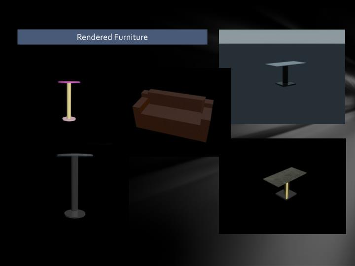 Rendered Furniture