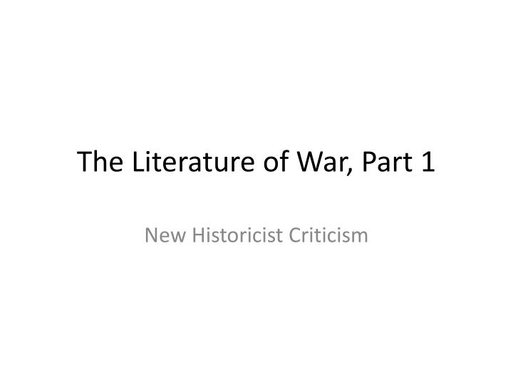 new historicist criticism macbeth and the