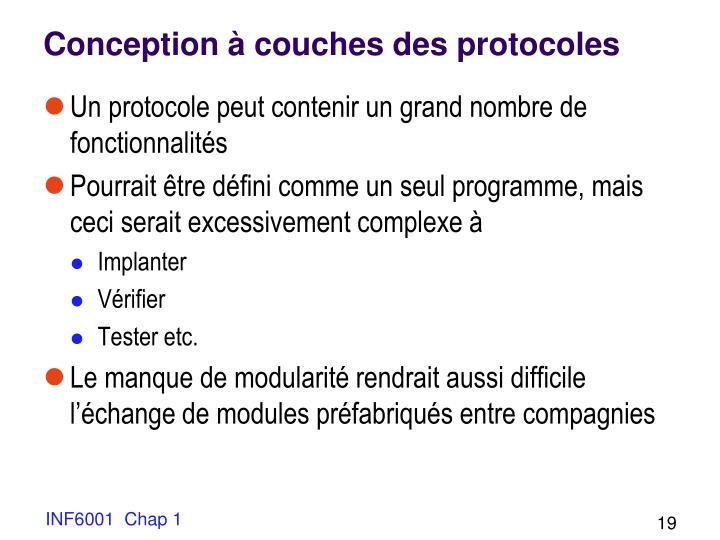 Conception à couches des protocoles