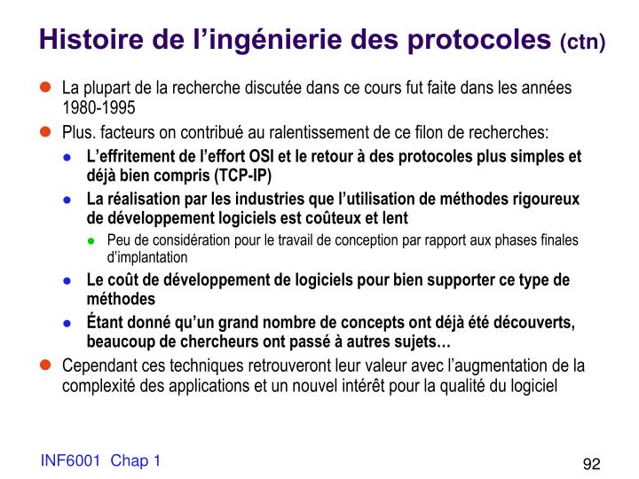 Histoire de l'ingénierie des protocoles