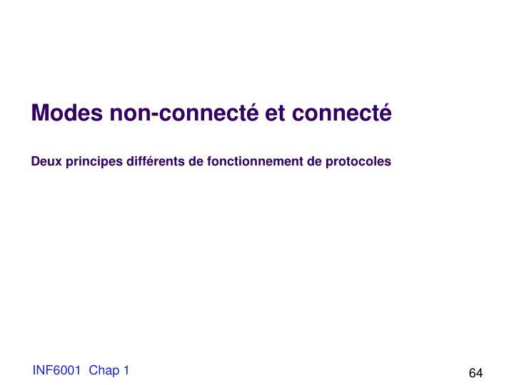 Modes non-connecté et connecté