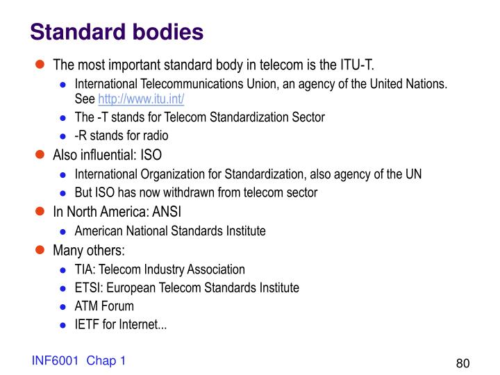 Standard bodies