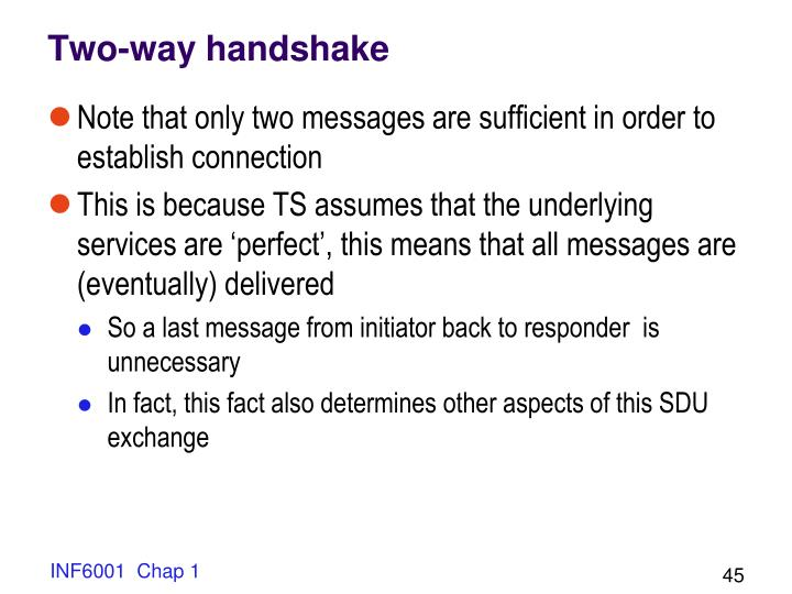 Two-way handshake