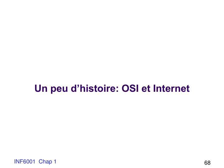 Un peu d'histoire: OSI et Internet
