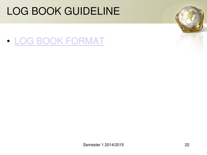 LOG BOOK GUIDELINE