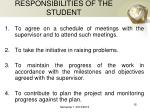 responsibilities of the student