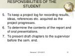 responsibilities of the student1