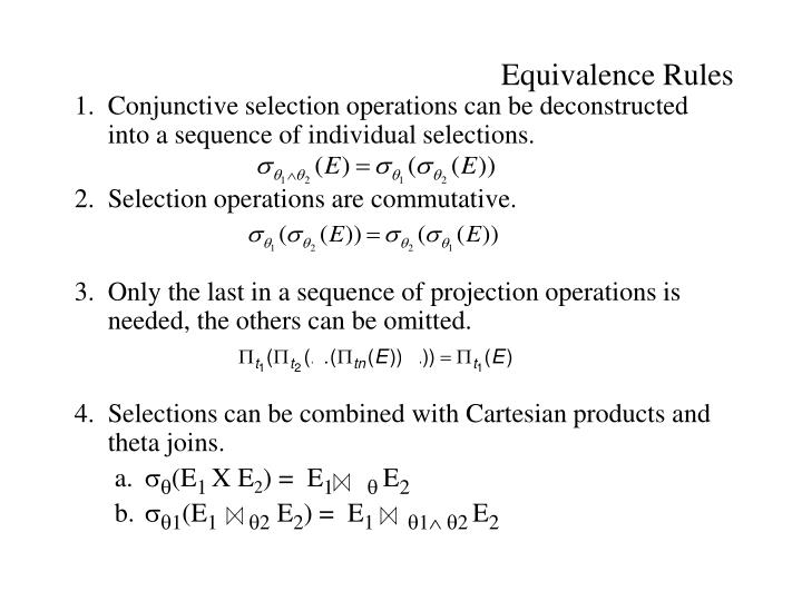 Equivalence Rules