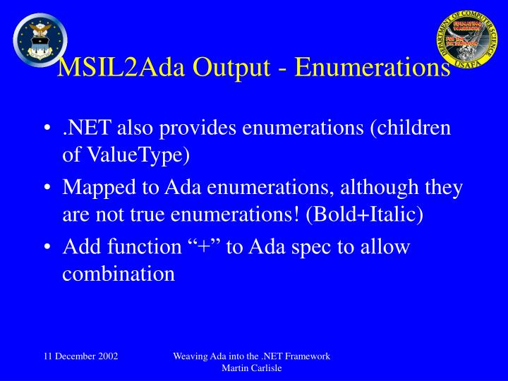 MSIL2Ada Output - Enumerations