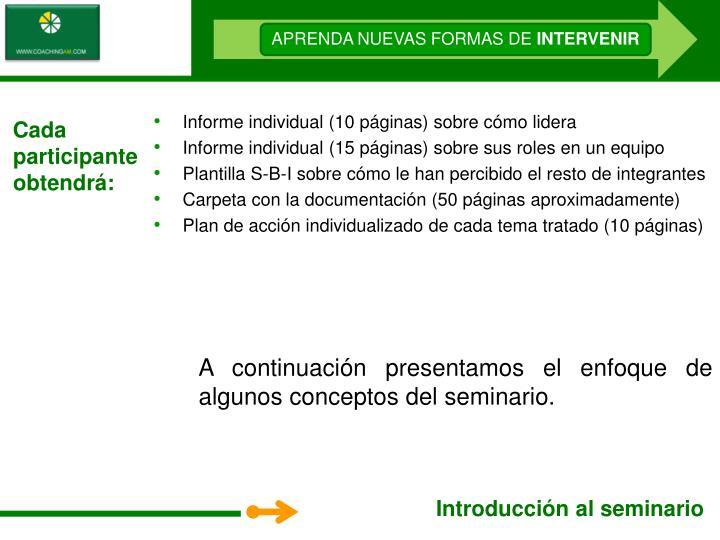 Informe individual (10 páginas) sobre cómo lidera