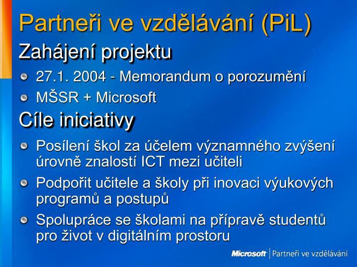 Partneři ve vzdělávání (PiL)