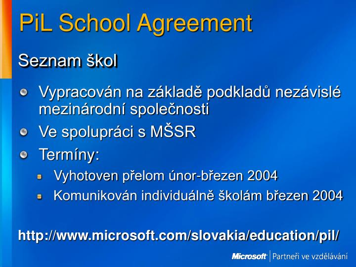 PiL School Agreement