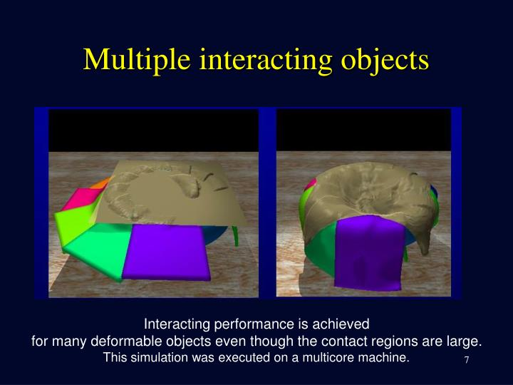 Multiple interacting objects