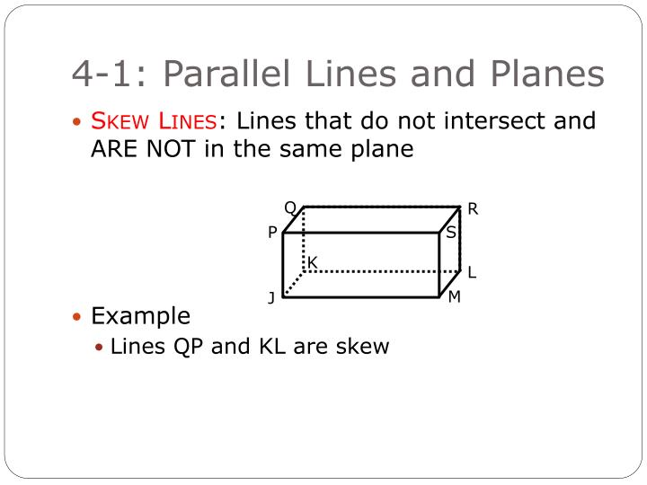 4-1: Parallel Lines and Planes