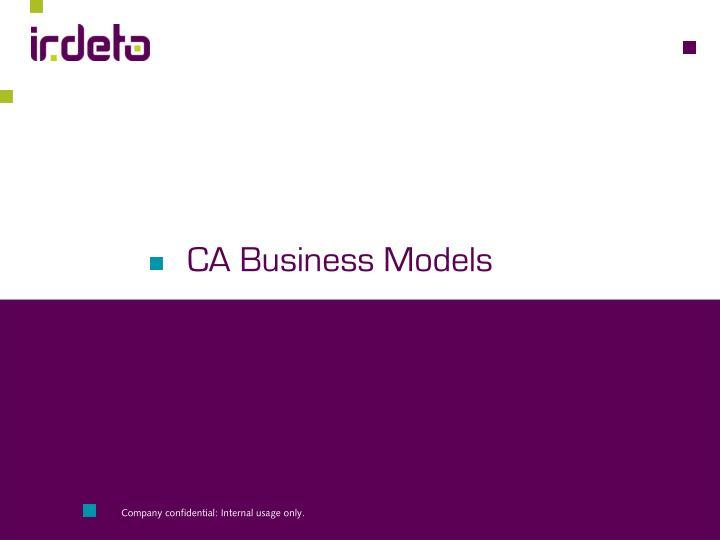 CA Business Models