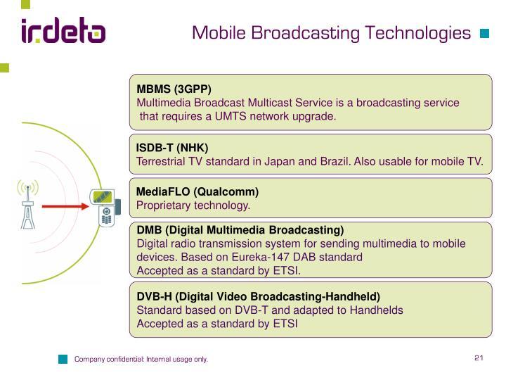 Mobile Broadcasting Technologies