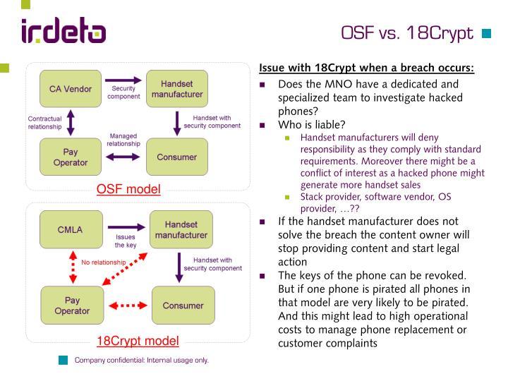 OSF vs. 18Crypt