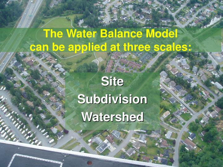 The Water Balance Model