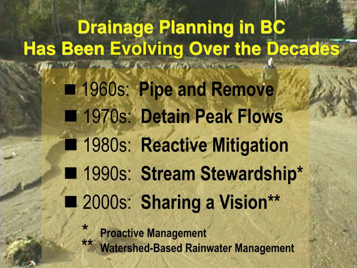 Drainage Planning in BC