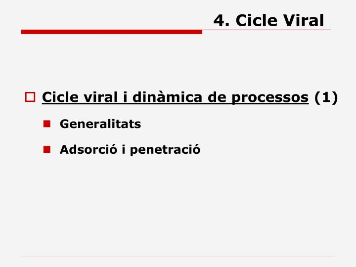 4 cicle viral