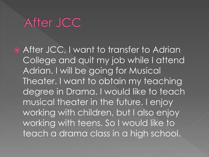 After JCC