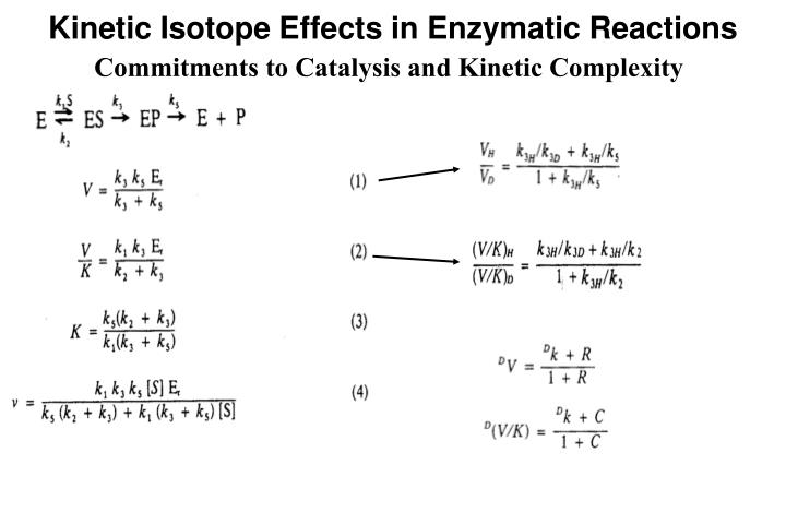 Kinetic Isotope Effects in Enzymatic Reactions