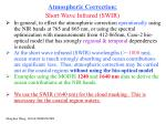 atmospheric correction short wave infrared swir
