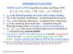 atmospheric correction