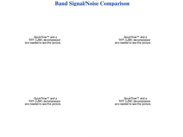 Band Signal/Noise Comparison