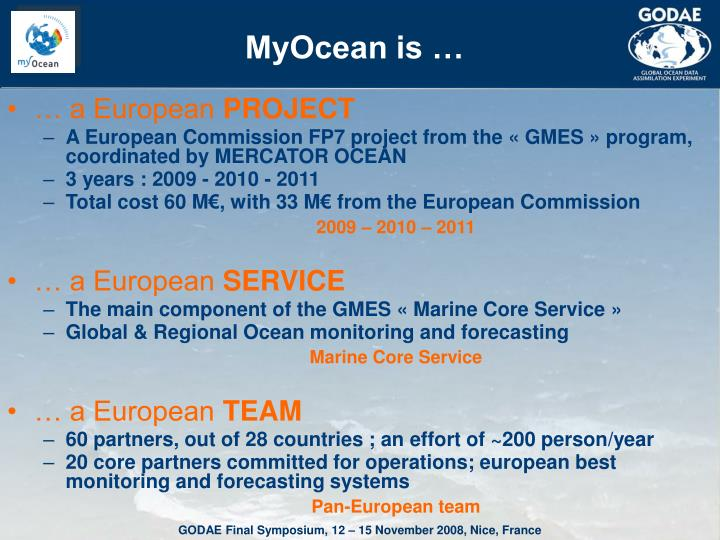 MyOcean is …