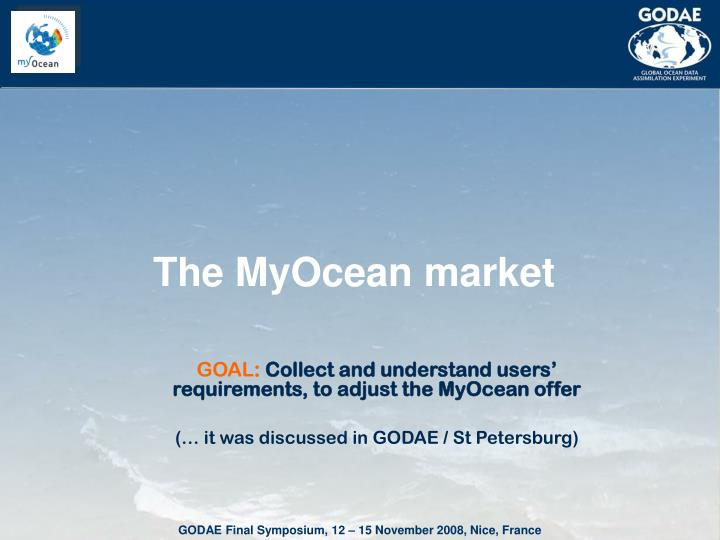 The MyOcean market