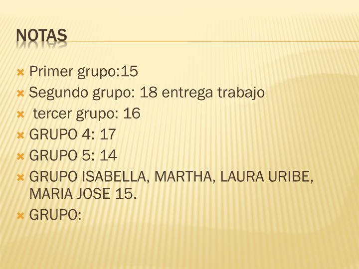 Primer grupo:15