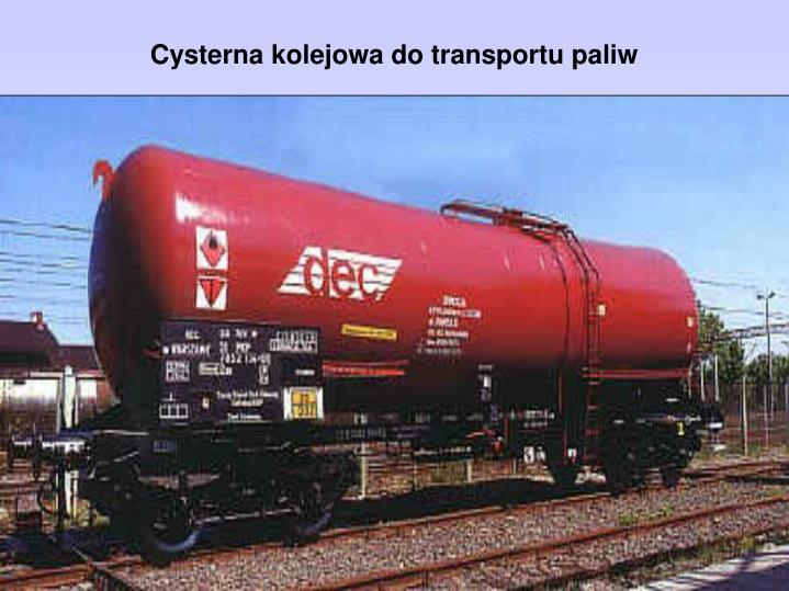 Cysterna kolejowa do transportu paliw