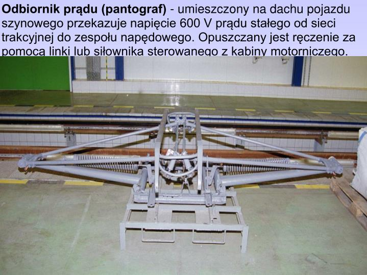 Odbiornik prądu (pantograf)