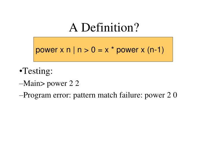 A Definition?