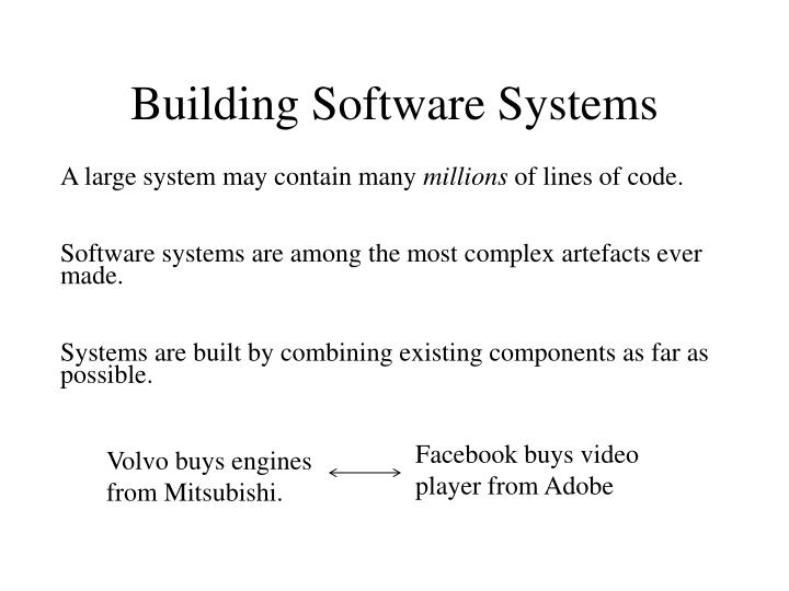 Building Software Systems