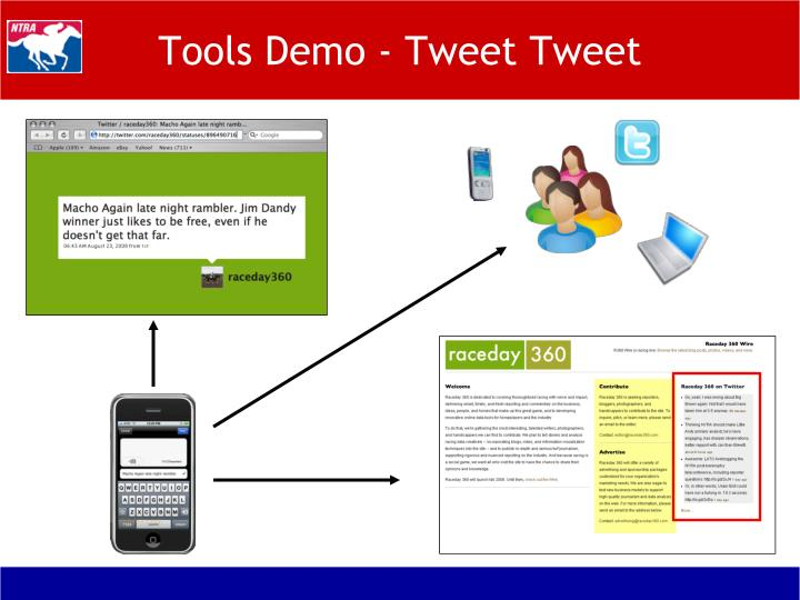 Tools Demo - Tweet Tweet