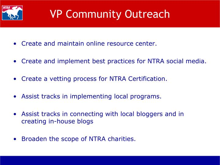 VP Community Outreach