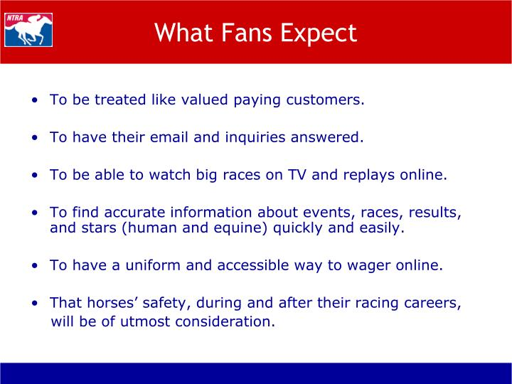 What Fans Expect