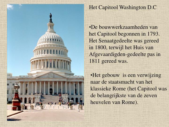 Het Capitool Washington D.C