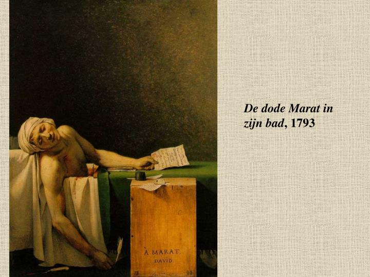 De dode Marat in zijn bad