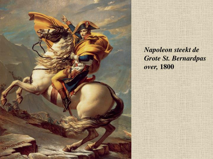 Napoleon steekt de Grote St. Bernardpas over,