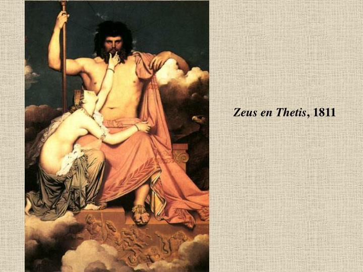 Zeus en Thetis