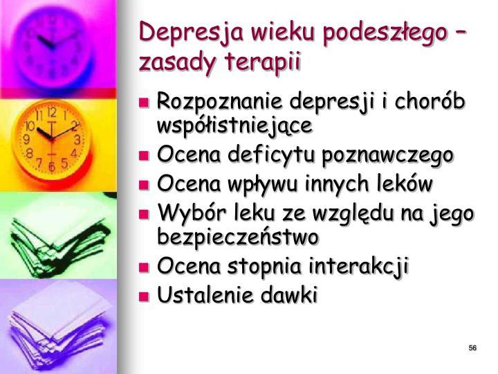 Depresja wieku podeszłego – zasady terapii