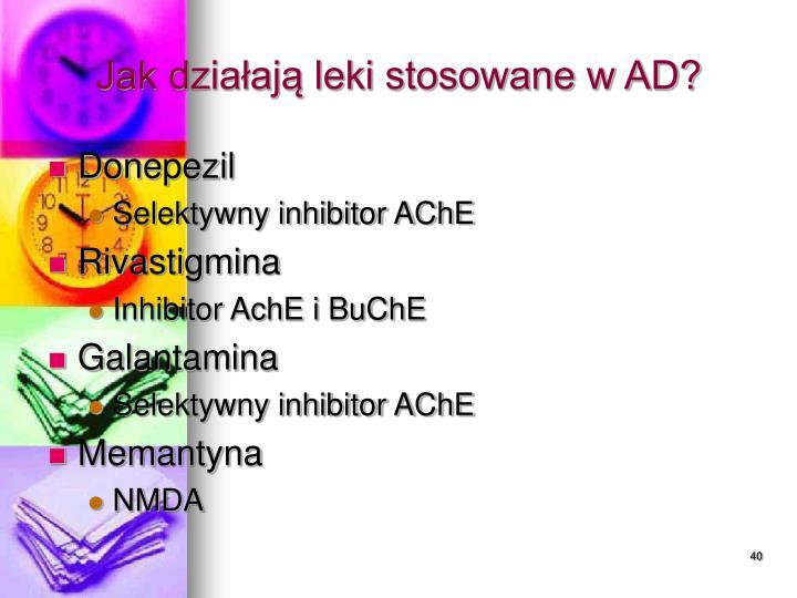 Jak działają leki stosowane w AD?