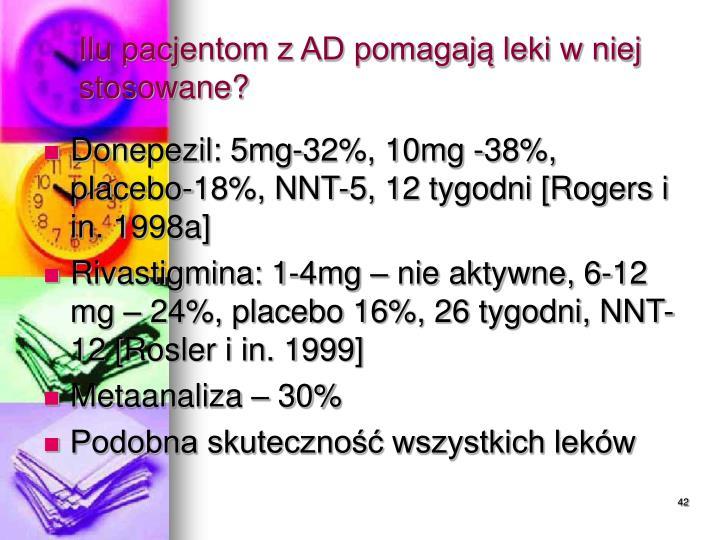 Ilu pacjentom z AD pomagają leki w niej stosowane?