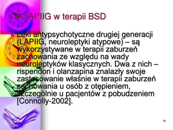 Leki APIIG w terapii BSD