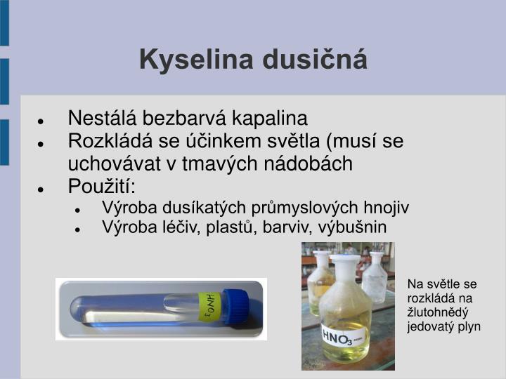 Kyselina dusičná