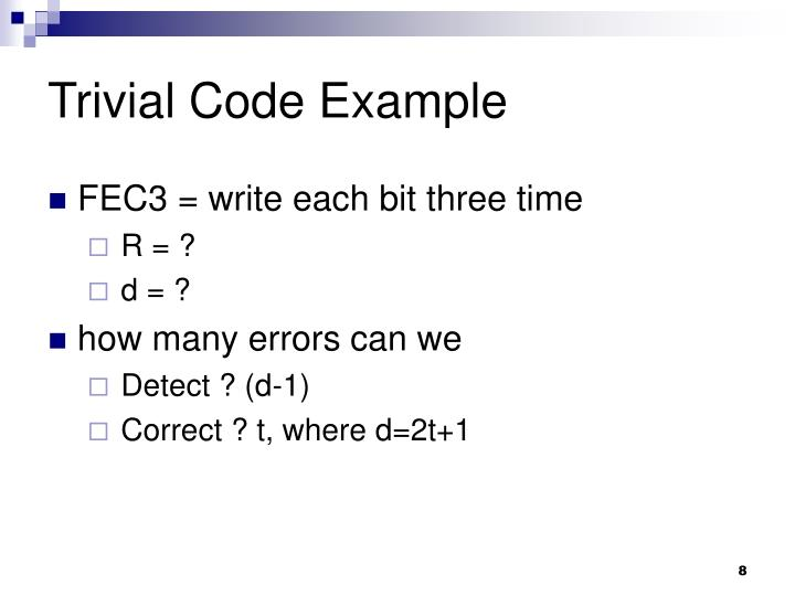 Trivial Code Example