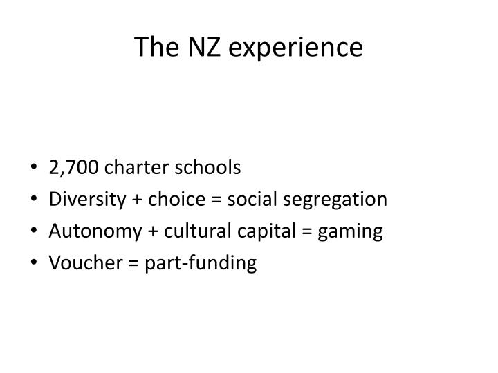 The NZ experience